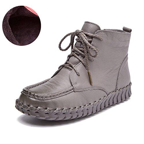 GTYW Ladies High Heels Women's Boots Donna Autunno E Inverno Nuovi Stivali In Pelle Martin Stivali Da Donna Stivali Piatti Cuciti A Mano I