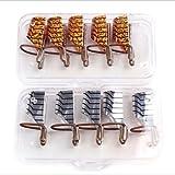 5 Stk/Set Nagelschablonen Modellier Schablonen Nail Art Maniküre Form Zubehör (Golden)