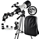 Telescope 70mm Apeture Travel Scope 400mm AZ Mount - Good Partner to View