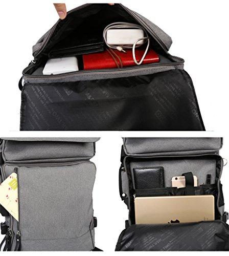 Fresion 15,6 Zoll Notebook Rucksack Herren Laptop Backpack Business Taschen Studenten Handtaschen für Arbeit Hochschule Reisen Wandern (Schwarz) Black