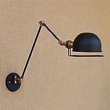Larsure Vintage Candelabro lámpara de pared estilo industrial lámpara de pared retro Industrial creative balcón brazo mecánico de doble lámpara de pared, diámetro 185mm longitud de brazo de 450mm