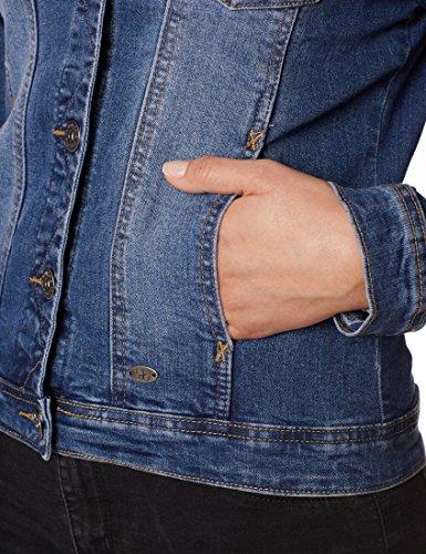 Berydale Damen Jeansjacke mit modischer Waschung, Dunkelblau, Gr. 34 - 6