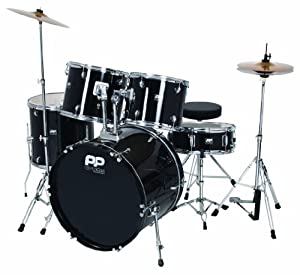 Performance Percussion PP250BLK 5 Piece Drum Kit - Black