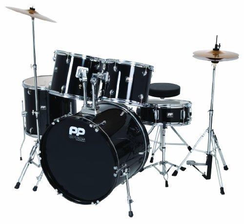 Performance Percussion PP250BLK 5-teiliges Schlagzeug-Set, schwarz