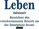 CLICKANDPRINT Aufkleber » Definition Leben, 70x47,7cm, Blau Reflektierend • Dekoaufkleber / Autoaufkleber / Sticker / Decal / Vinyl