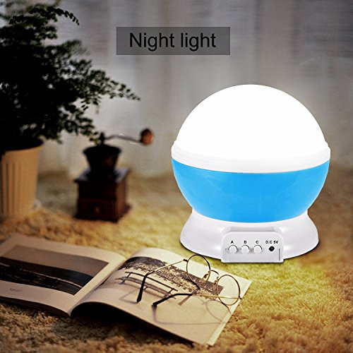 Image of Night Light Projection Lamp with 2 lids - Relaxing Baby Bedrooms Lights with LED Light Projector, Childs Sensory Lights Creates a Perfect Mood for Slumber with Starlight Projector Lighting Best Gift for Men Women Teens Kids Children Sleeping - By Duomishu