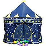 Children Kids Wizard & Princess Castle Tent for Indoor & Outdoor Playhouse (Blue wizard)