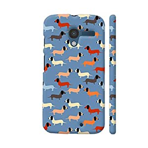 Colorpur Moto X1 Cover - Dog Vector Pattern Case
