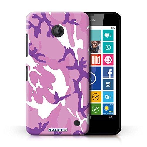 Kobalt® Imprimé Etui / Coque pour Nokia Lumia 635 / Blanc 2 conception / Série Armée/Camouflage Rose 4