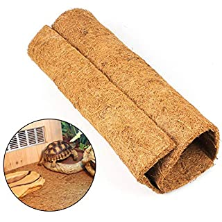 AUOKER Reptile Carpet, Brown Reptile Terrarium Liner Mat Substrate Bedding Fits All Sorts of Gecko, Bearded Dragons, Lizards, Iguanas, Anoles, Turtles, Snakes - Made of Natural Coconut, 24 X 16 Inch