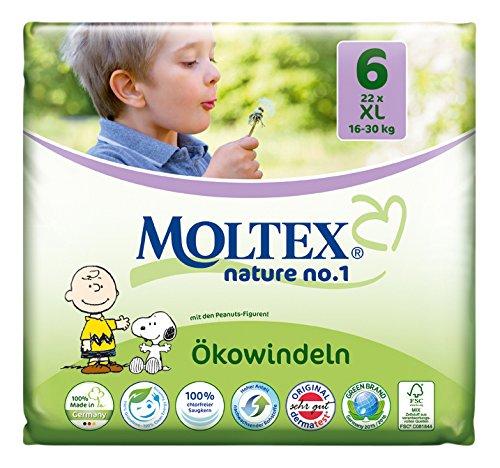 MOLTEX Nature no.1, Größe 6, 16-30kg, Ökowindel XL, 22 Stück