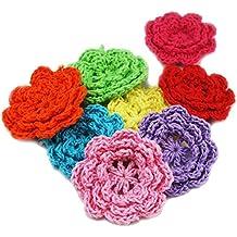 Fujiyuan - 25 piezas de costura de crochet de 50 mm para adornar hojas y accesorios