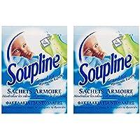 Soupline Sachet Grand Air 3 Sachet Parfumés & 3 Crochets - Lot de 2