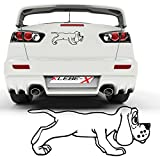 Comic Dackel Hundeaufkleber Sticker Auto Folienplot lustige Comic Hunde Motiv Dog  025V36