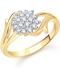 VK Jewels Flowery Dreams Gold And Rhodium Plated Alloy Ring For Women & Girls Made With Cubic Zirconia - FR1501G...