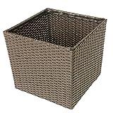 CHENGYI Cestino di immagazzinaggio del Cestino di Lavanderia del Rattan di Imitazione Cestino di bambù di plastica di qualità di plastica PE Imitazione Tessuto di Pura Mano del Rattan