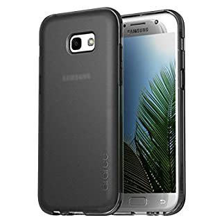 Samsung Galaxy A7 2017 Case, araree [Airfit] Ultra Slim Soft Flexible TPU Scratch Resistant Shockproof with Perfect Fit for Samsung Galaxy A7 (2017) Black