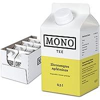 Mono Tee Bio-Eistee Zitronengras-Apfelminze, 8er Pack (8 x 500ml) ungesüßt, kalorienarm, direkt gebrühter Kräutertee - Ihre Alternative zu Wasser