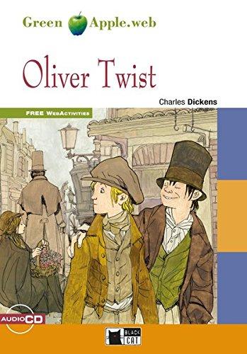 Oliver Twist: Englische Lektüre für das 4. und 5. Lernjahr. Buch + Audio-CD (Green Apple) Buch-Cover