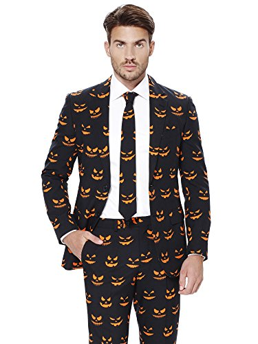 ostüme und Halloween Anzüge für Herren - Mit Jackett, Hose und Krawatte,Black-o Jack-o,EU 58 ()