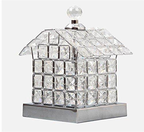 Kreative Mädchen Geschenk LED-Kristall-Lampen, Dekorative Lampen Warmes Haus, ein Geschenk der Wiedervereinigung Geständnis Entschuldigung zu feiern (Silber)