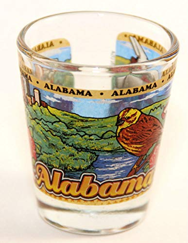 Alabama Glas (Alabama State Wraparound Shot Glass by World By Shotglass)