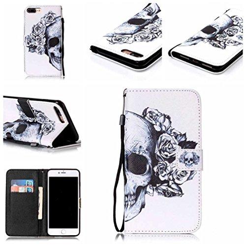 Coloré Motif PU Cuir portefeuille Housse Etui pour iPhone 7 Plus (5,5 pouces) Case Coque Protection Flip Cover avec carte de crédit Slots (Y05#) Y28#