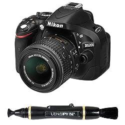 Nikon D5200 24.1MP Digital SLR Camera (Black) with AF-S 18-55 mm VR II Kit Lens + Memory Card + Camera Bag + Benro T600EX Digital Tripod Kit + Lenspen NLP-1 Cleaning Brush (Black)