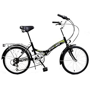 "Stowabike 20"" Folding City V2 Compact Foldable Bike Black/Green"