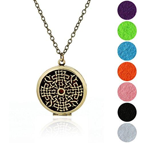 Die Acht Trigramme Aromatherapie Ätherischen Öl Diffuser Halskette Anhänger Bronze (Indian Oil Parfüm)