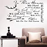 wandaufkleber feuerwehrmann sam wandaufkleber blumen fer Wall Sticker Decals House Rules In This House We Hunt We Get The Lead Out For Living Room Bedroom