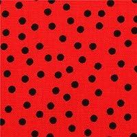 Tela lunar punto flamenca rojo de Robert Kaufman Remix Red