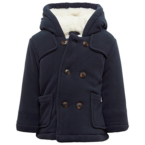 TOM TAILOR Kids Baby-Jungen Jacke Fleece Coat, Blau (Original 1000), 80 (Jacke Mantel Blau)