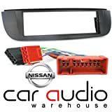 T1 Audio Nissan Tino 2000-2004, Set, für Nissan Almera Tino, 1 Din Radioblende &ISO Autoradio Adapter, Kabelbaum Kit
