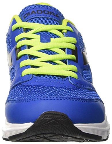 Diadora Shape 7, Chaussures de Course Mixte Adulte Bleu (Blu Micro/verde Acido/nero)
