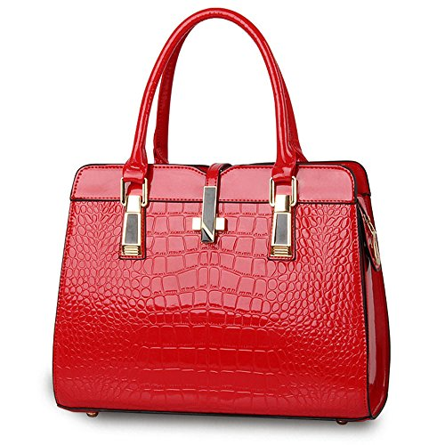 Anne, Borsa a mano donna rosso White Red