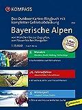 Bayerische Alpen - von München bis zur Zugspitze, von Füssen bis Berchtesgaden: 3 in 1: Das KOMPASS-Outdoor-Karten Ringbuch mit kompletter Gebietsabdeckung 1:35000: Outdoorkaarten 1:35 000 in ringband -