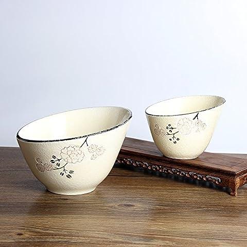 Mh-rita Creative Whale Bol Saladier Lovely Bol à riz Cuit Bol Bol en céramique Vaisselle de ménage, 7 inch, 7
