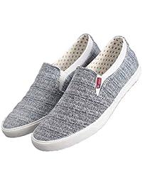 Ywqwdae Herren Slip on Deck Schuhe weiche Sohle Rutschfeste atmungsaktive langlebige Superleichte Espadrilles (Farbe : Blau, Größe : EU 39)