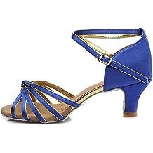 HROYL Zapatos de baile/Zapatos latinos de satén mujeres ES7-F17