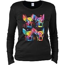 Damen Langarmshirt mit Motiv: Chihuahua - Hundemotiv - Geschenk - Pullover,  Pulli - Farbe