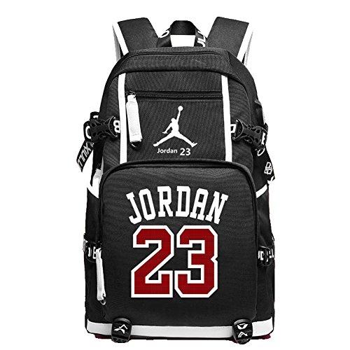 YOURNELO, Damen Mädchen Herren Jungen Kinderrucksack Schwarz C Jordan Black Einheitsgröße