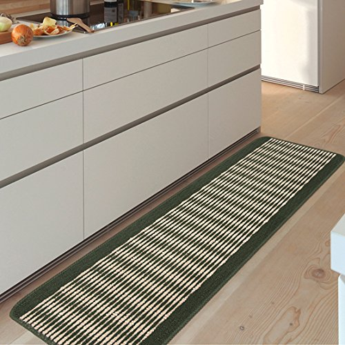 Preisvergleich Produktbild FQG*Die Küche Fußmatte lange Griff Wasseraufnahme anti-GAS-ZUFUHR Tor am Eingang der Füße des Anti-Rutsch-Pad von Hand waschen ,43 x 100 cm, grün