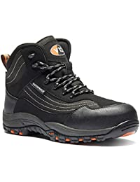 V12 V1501/03 Caiman Safety boot, UK size 3, Black/graphite