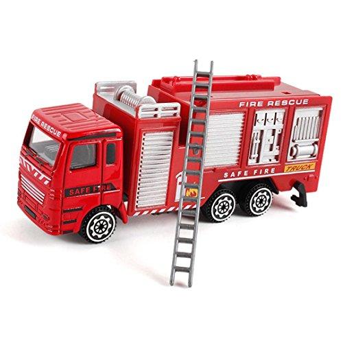 friendGG❤️❤️Kinder Spielzeug, Lernspielzeug,Junge Spielzeug ,Mädchen Spielzeug, Alloy Engineering Toy Mining Car Truck Children's Birthday Gift Fire Rescue Spielzeug (B)
