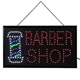 Neon Light, 1pc Große Helle LED Shop Schild Neonlicht Fenster Tür Hängen Zeichen Geoffnet Leucht-Schild Neon Beleuchtung für Kinderzimmer Dekorationen Geburtstag Party Wohnzimmer Hochzeit (Barber Shop)