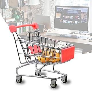 A-SZCXTOP Artificial Mini Supermarket Shopping Handcart Cart Mode Trolley Storage Toy