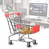 A-szcxtop Künstliche Mini Shopping Bollerwagen Cart Modus Storage Spielzeug Rot