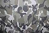 Romel24.DE [15,77€/m²] 50CM X 152CM Folie Selbstklebend Matt Luftkanäle Camouflage