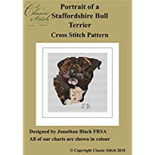 Portrait of a Staffordshire Bull Terrier Cross Stitch Pattern